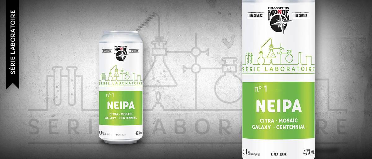 Bière NEIPA de la série laboratoire