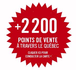 2200 point de vente au Québec